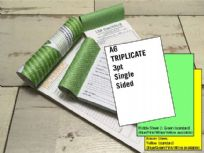 A6 Triplicate - 3 part (3pt) Single Sided